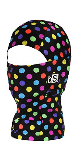 BlackStrap Kids The Hood Dual Layer Cold Weather Neck Gaiter and Warmer for Children, Polka Dot