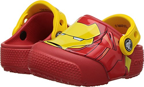 Crocs Kids Baby Boy's FunLab Iron Man Lights Clog (Toddler/Little Kid) Flame 4 M US Toddler M -