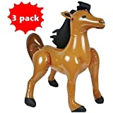 Set of 3 inflatable HORSES - 36 inch - inflate horse Farm Animal - by happy deals