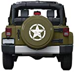 i-VIVIAN Universal Sports Racing Stripe Graphic Stickers and Decals for Truck Auto Car Body Side Door (Army Star White)