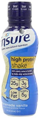Ensure High Protein Shake, Homemade Vanilla, 4 Count, 14-Ounces bottles (Pack of 3) by Ensure