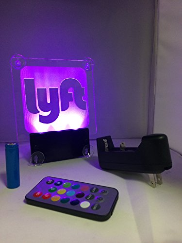 Acryled designs LYFT NEW Remote Control LYFT LOGO.Car window LED sign no cord - multicolor light,rechargeable batteries.(LOGO Lyft) by Acryled designs (Image #6)