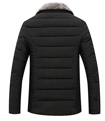 E Parka Grosso amp; Nero Outwear E Caldo Mens H Cappotto Trapuntato Inverno Giacca Grande 75wRPPqU