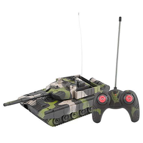 RCモデル 戦車 1:20スケール 4チャンネル リモートコントロール 軍事バトルタンク 軍隊ファン対応 おもちゃ 迷彩カラー 3タイプ(ライトアーミーグリーン)