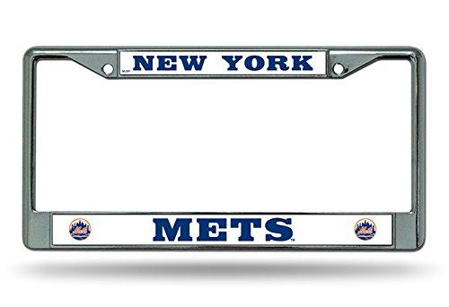 (New York Mets NEW BOLD Design Chrome Frame Metal License Plate Tag Cover Baseball)