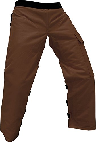 Cold Creek Loggers Chainsaw Apron Safety Chaps with Pocket (Regular 37' Brown)