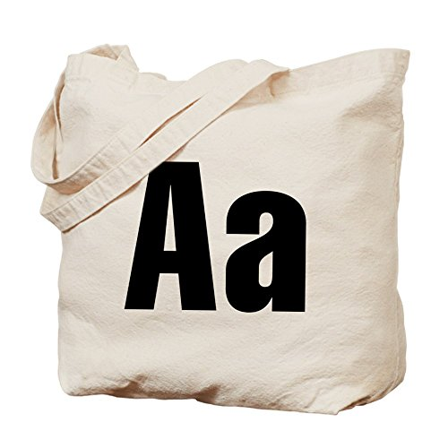 CafePress–un Helvetica alfabeto–Gamuza de bolsa de lona bolsa, bolsa de la compra