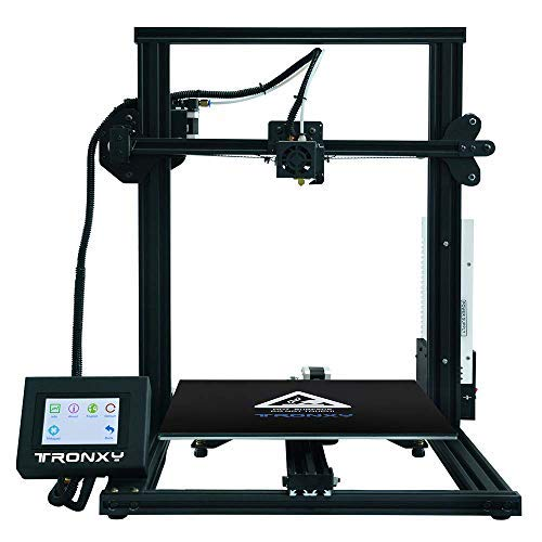 TRONXY XY-3 3D Printer Pro Printing with Large Print Size Full Color LCD Touch Screen 4-Step DIY Assembled Upgraded Nozzle Heat Bed for PLA ABS Flexible Filaments - Touch Full Color Screen