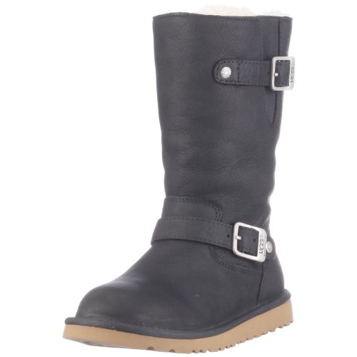 ugg-australia-kids-kensington-black-sheepskin-boots-4