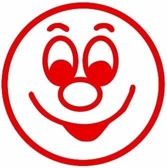 TimeTEX Siebdruck-StempelPerpetuum Gesicht lachend