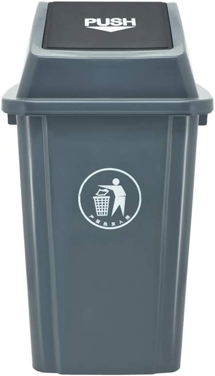 Environmentally Friendly Outdoor Large Capacity Rebound Cover Trash Can 100L Color : GRAY, Size : Xl