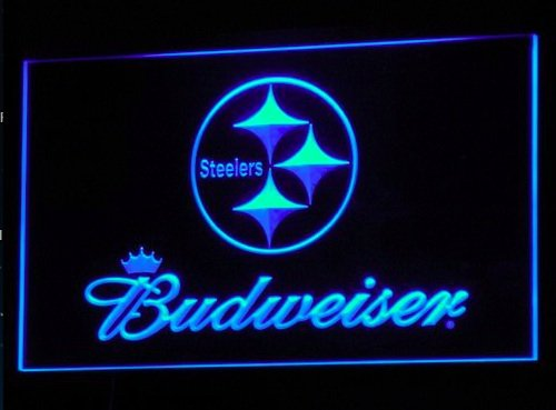 Pittsburgh Steelers Budweiser Neon LED Caracteres Publicidad ...