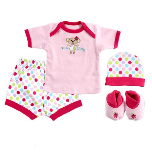 Price comparison product image 4-Piece Playtime Layette Boxed Gift Set, Pink