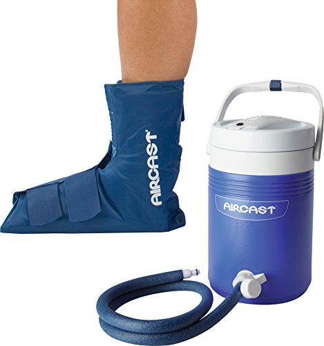 Aircast Cryo/Cuff Cold Therapy: Ankle Cryo/Cuff with Non-Motorized (Gravity-Fed) Cooler, Pediatric (Ages 1-7) by DonJoy