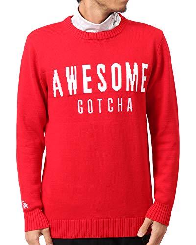 [ガッチャ ゴルフ] GOTCHA GOLF セーター コットン ハイゲージ ニット 183GG1400