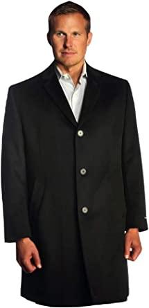 StoutMensShop Big and Tall Luxury Wool Blend Topcoat to Size 60