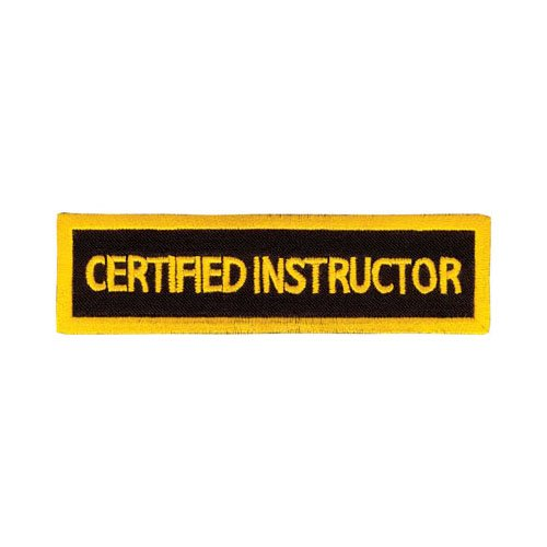 Tiger Claw Rectangular Instructor Patches - Certified Instructor