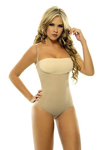 Corset Mujer Lycra Nylon Braless Adjustables Straps Panty type Faja Colombia...