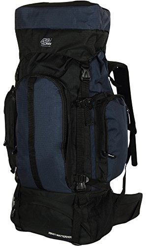 Mens Large 34 Inch Navy Outdoor Hiking Camping Hunting Tactical Backpack Daypack