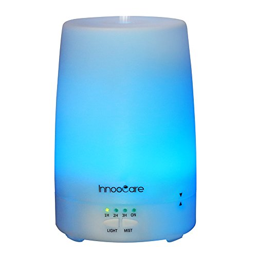 InnooCare Essential Oil Diffuser, 180ml Aromatherapy Diffusers, Cool Mist Humidifier with 7 LED Light Colors, 4 Timer Settings & Waterless Auto Shut-off, Suitable for Office, Bedroom