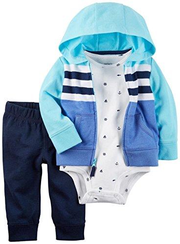 Carter's Carter's Baby Boys Cardigan Sets 121h270, Blue, 3M