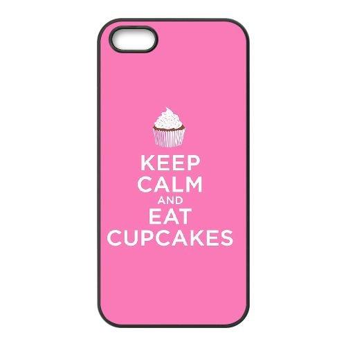 Keep Calm Eat A Cupcake 006 coque iPhone 5 5S cellulaire cas coque de téléphone cas téléphone cellulaire noir couvercle EOKXLLNCD25232