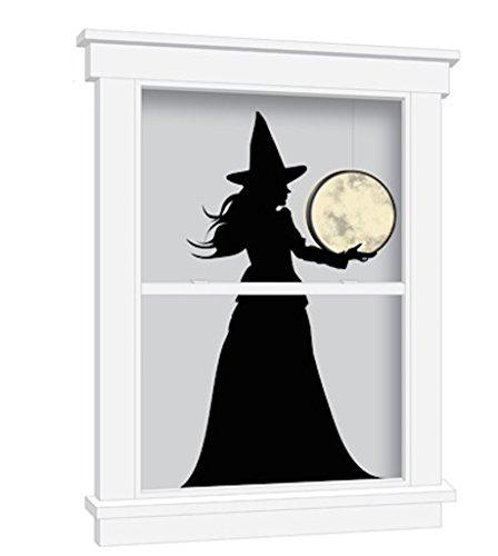 Martha Stewart Crafts Luminary Witch & Moon Window Cling Halloween Decor (Martha Stewart Halloween Decor)