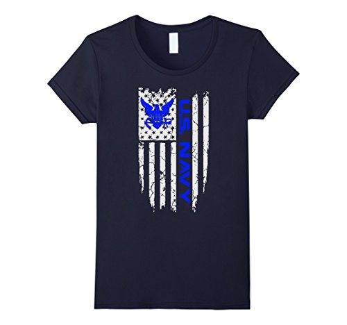 womens-us-navy-american-flag-shirt-medium-navy