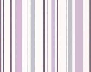 A.S. Création papel de perfil de estructura Happy Hour gris lila blanco 10,05 m x 0,53 m 259424
