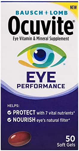 Bausch + Lomb Ocuvite Eye Performance Formula Soft Gels, 50 Count