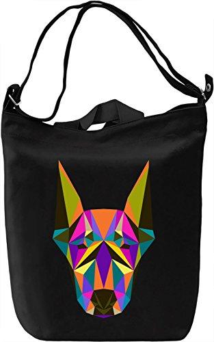 Colorful dog head Borsa Giornaliera Canvas Canvas Day Bag| 100% Premium Cotton Canvas| DTG Printing|