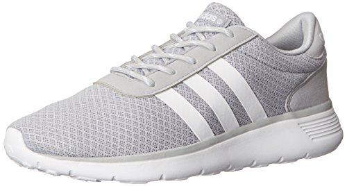 Adidas NEO Women's Lite Racer Running Shoe,Clear Onix/Running White/Running White,9.5 M US