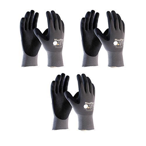 3 Pack 34-874 3XL MaxiFlex Ultimate Nitrile Grip Work Gloves Size XXX-Large (3Pair Pack) by ATG
