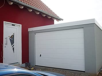 Fertiggarage Hochraumgarage, ca. 4 x 9 m,mit Hörmann Sectionaltor ...
