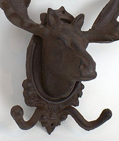 Amazon.com: Hierro fundido Moose Coat Hook: Home & Kitchen