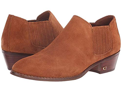 - Coach Women's Suede Ankle Bootie Saddle 8.5 M US