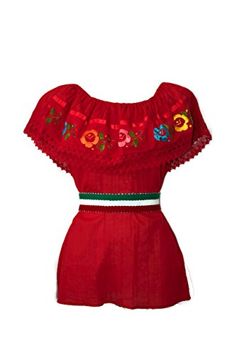 Traditional Mexican Blouses (RED)