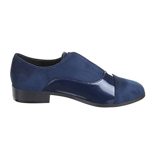 Ital-Design - Mocasines de Material Sintético para hombre, color azul, talla 44 EU