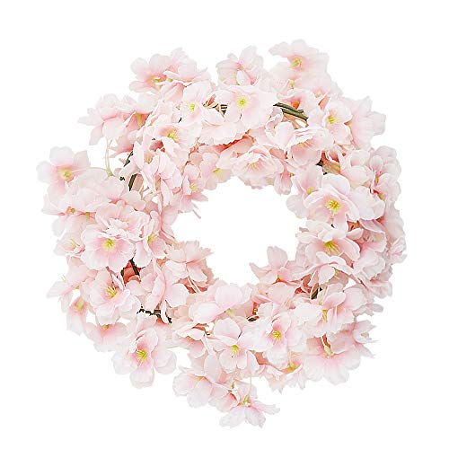 CEWOR-4pcs-Artificial-Cherry-Blossom-Flower-Vines-Hanging-Silk-Flowers-Garland-for-Wedding-Party-Home-Decor-Pink-Pack-of-4