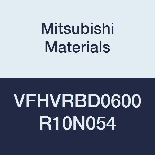 Short 54 mm Neck Length 6 mm Cut Dia 9 mm LOC 1 mm Corner Radius Irregular Helix Flutes Mitsubishi Materials VFHVRBD0600R10N054 Series VFHVRB Carbide Impact Miracle Corner Radius End Mill 4