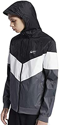 da684494087e35 NIKE Mens M NSW WR JKT HD GX QS AJ1396-010 2XL - Black Summit White Dark  Grey Black