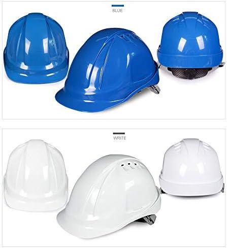ヘッド保護 建設ヘルメットキャップスタイルのハード帽子調整可能なラチェット8 Ptサスペンションハード非換気帽子調節可能なヘルメットPPエンジニアリングヘルメ 作業安全装置 (色 : 黄)