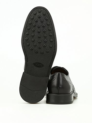 Tods Derby brogue in pelle semilucidama 45a Nero XXM45A00C10D90