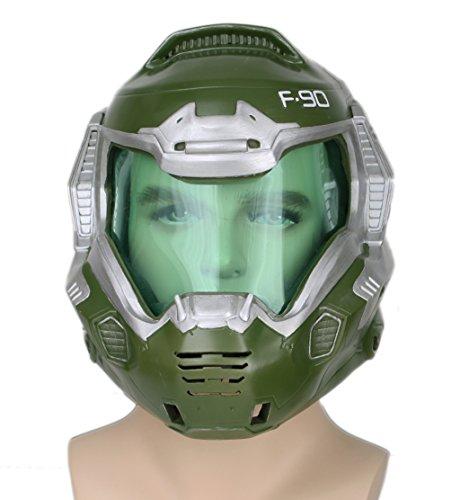 t Deluxe Green Mask Visor Halloween Cosplay Costume Prop Adult ()