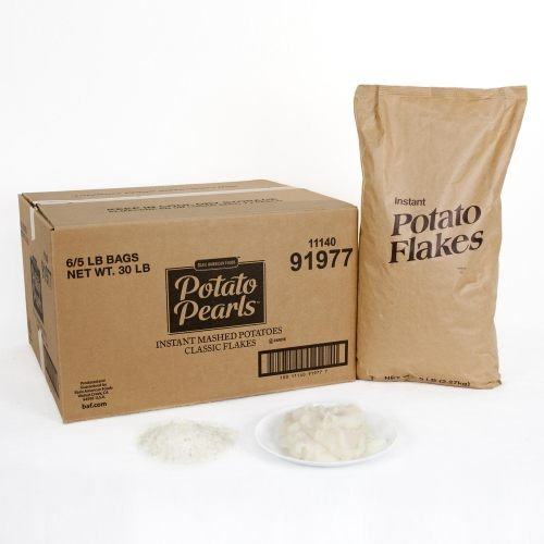 Potato Flakes Instant, 5 Pound -- 6 Case by Basic American Foods