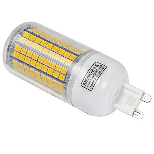 MENGS® Pack de 4 Bombilla lámpara LED 15 Watt G9, 180x2835 SMD , blanca fría 6500K, AC 220-240: Amazon.es: Iluminación