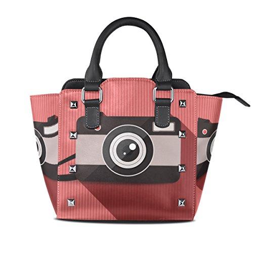 Bennigiry PU Bag Bag Leather Women's Purse Shoulder Camera Rivet Tote BBPgOq