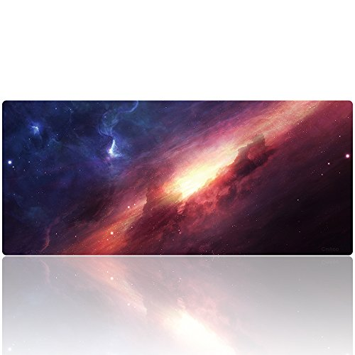 Cmhoo XXL Professional Large Mouse Pad & Computer Game Mouse Mat (35.4x15.7x0.1IN, 90x40 sky001)
