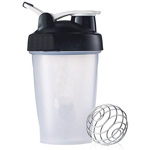 16oz Black Blender Cup Bottle Top Shaker Bottle