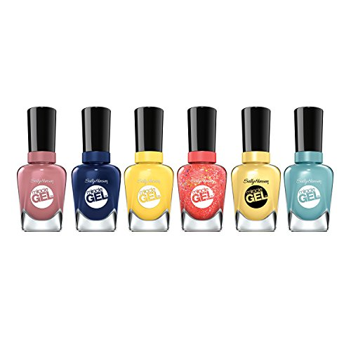 Sally Hansen Miracle Gel Summer Bright Shades Nail Polish Set, .5 Oz, Variety Pack